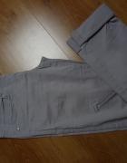 spodnie rurki reserved szare jeansy S XS