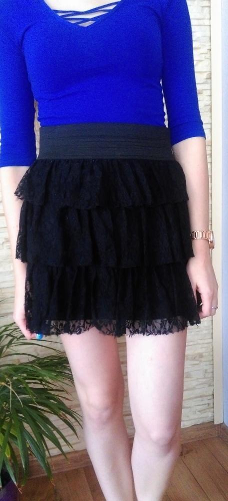 spódnica czarna koronka...