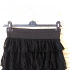 spódnica czarna koronka