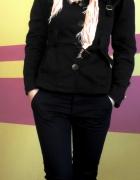 płaszczyk wiosenny czarny jednorzędowy S36