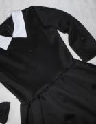 wloska sukienka rokloszowana z kolnierzykiem