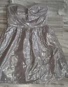 Srebrna sukienka bershka...