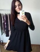 Sukienka CLAIRE rozkloszowana elegancka mała czarn