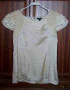 SAVIDA piękna bluzka M 38 damska kremowa...
