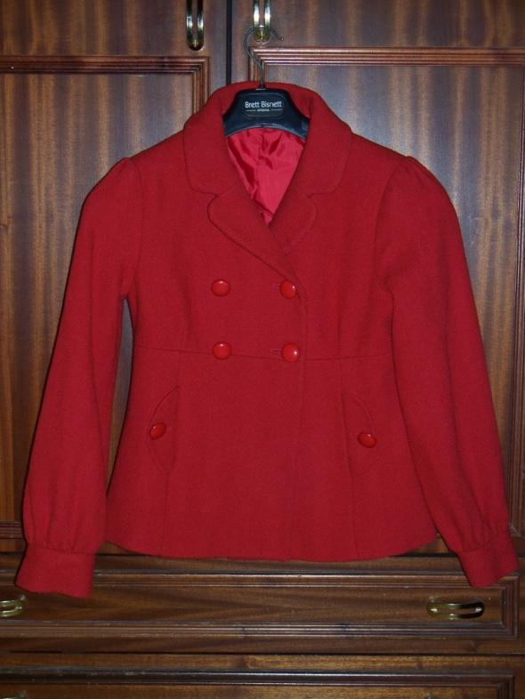 Odzież wierzchnia DUNNES STORES ładny Płaszcz M 38 damski czerwony