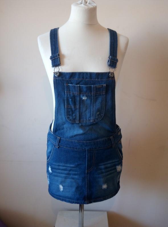 Suknie i sukienki Jeansowa ogrodniczka S