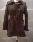 brązowy płaszcz H&M 40