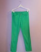 zielone Spodnie rurki H&M