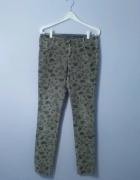 wzorzyste Spodnie sztruksowe Diverse