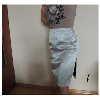 Spódnice Zara spódnica metalic R 3840