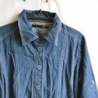 jeansowy długi jakby płaszczyk