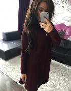 Asymetryczna tunika sukienka sweter