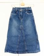 Spódnica dżinsowa jeansowa z wysokim stanem XXS XS