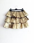 spódniczka mini złota glam retro vintage sesja...
