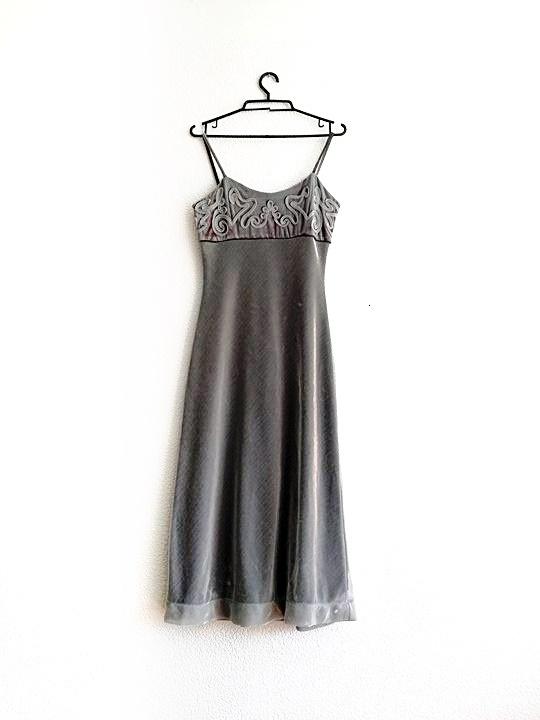 sukienka na ramiączkach srebrna vintage retro...