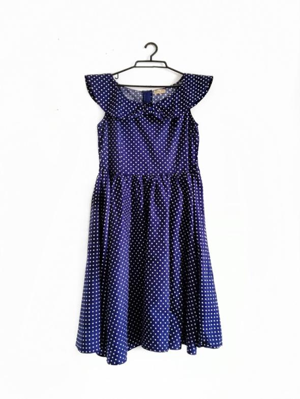 sukienka kropki 50s vintage retro lindy pin up