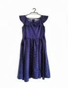 sukienka kropki 50s vintage retro lindy pin up...
