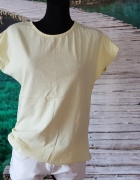 Koszulka TShirt Oversize Żólta L XL Luźna