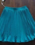 Plisowana spódnica 38 turkusowa...