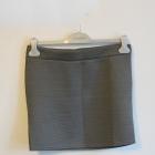Szara mini spódniczka pikowana