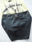 Mega spódniczka czarna pikowana...