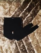 Gina Tricot spodnie 34 XS czarne złote zipy zamki