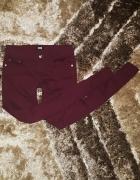 Bik Bok spodnie rurki 36 S burgundowe