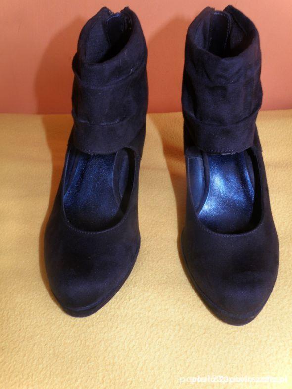 Czółenka botki czarne