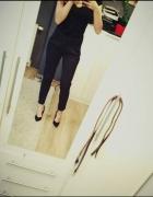 czarne spodnie ciekawy krój