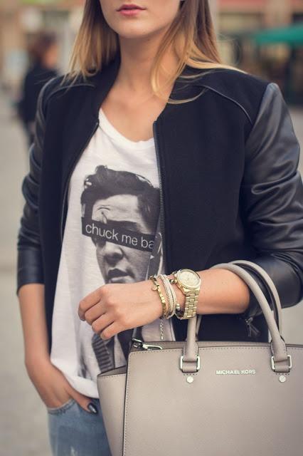 Bluzki bluzka z nadrukiem Anonymous CLTH