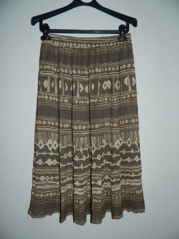 Spódnice zwiewna spódnica midi w azteckie wzory vintage