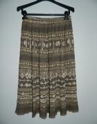 zwiewna spódnica midi w azteckie wzory vintage