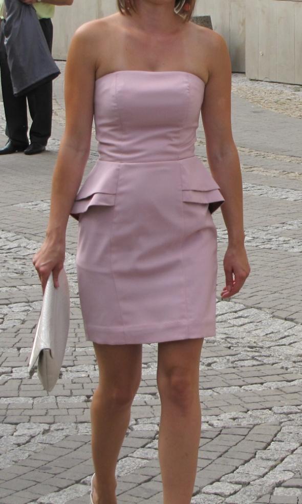 Suknie i sukienki Przecudna sukienka H&M pudrowy róż