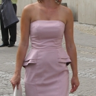 Przecudna sukienka H&M pudrowy róż