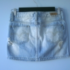 Miss Anna spódniczka jeansowa mini jeans destroyed