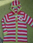 Śliczny kolorowy sweterek 110cm...