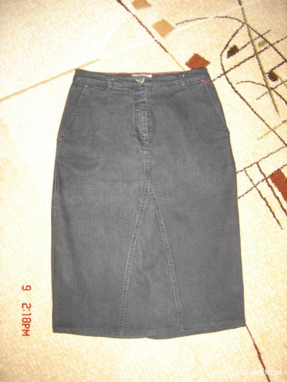 Spódnice czarna jeansowa ołówkowa