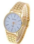 Zegarek w kolorze złota z białą tarczą