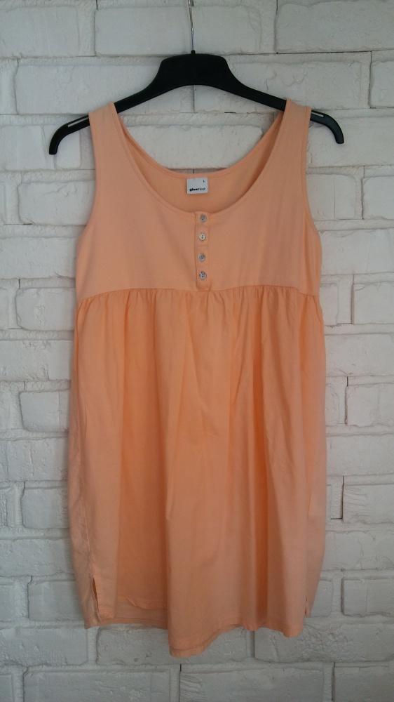 Brzoskwiniowa sukienka L