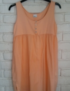 Brzoskwiniowa sukienka L...
