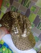 Złota czapka z daszkiem kaszkiet