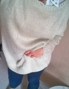 Mohito sweterek oversize zlota nitka
