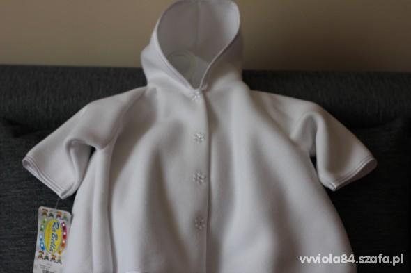 Ciepła pelerynka do chrztu biała