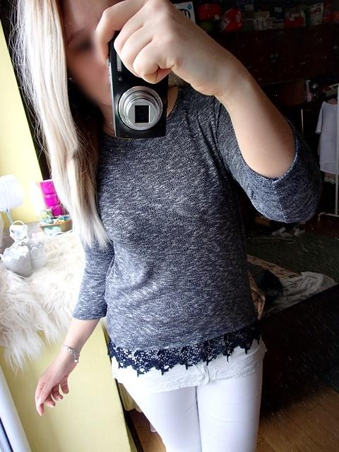 Sweter koronka gipura koszula tunika...
