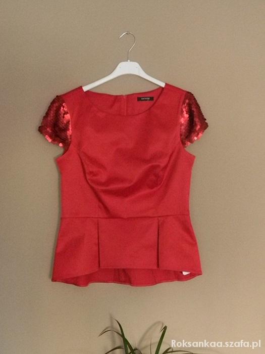 Bluzki Orsay czerwona bluzeczka