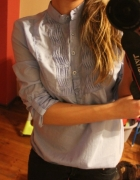 Koszula niebieska żabot Reserved 36 S