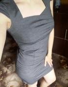 Szara codzienna sukienka
