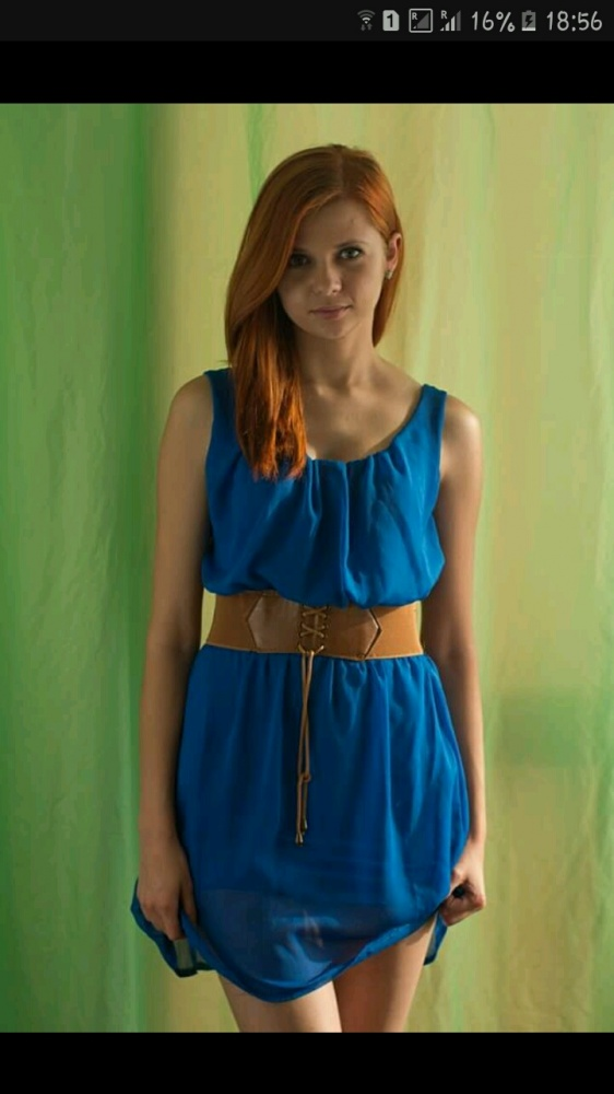 Suknie i sukienki niebieska sukienka