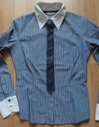 koszula z krawatem marks spencer 36 38