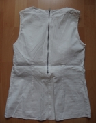 biała bluzka zip z zamkiem 34